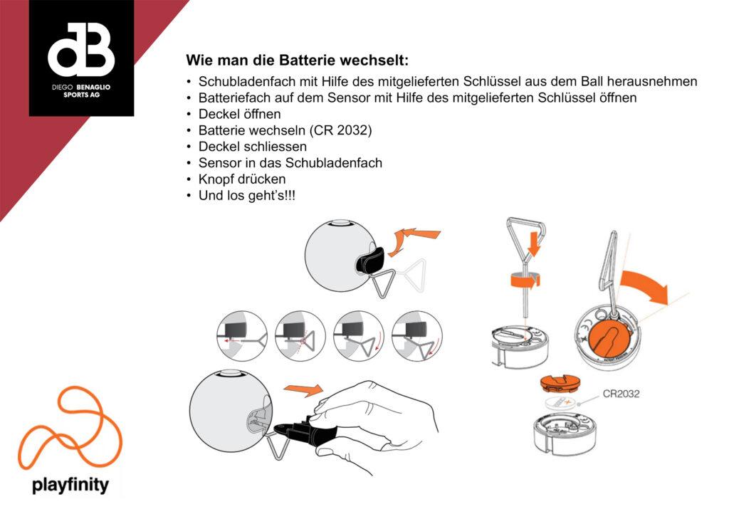 Playfinity Anleitung Batteriewechseln
