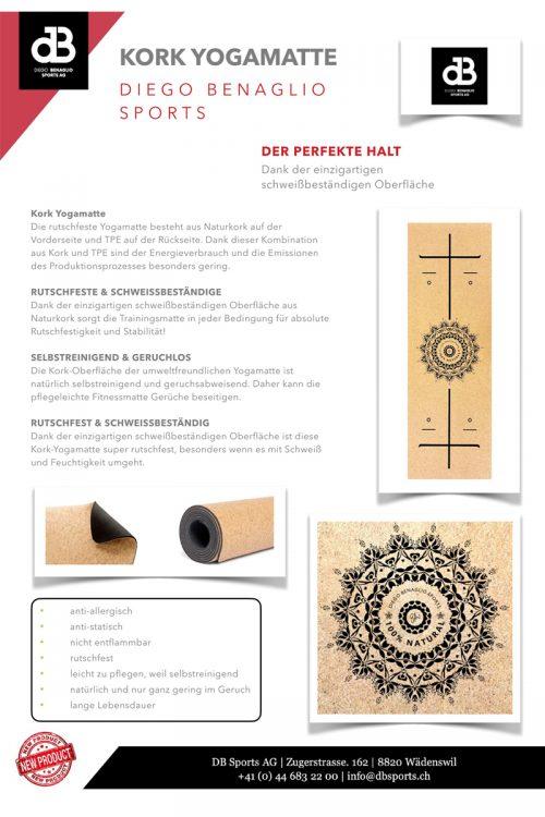 Diego Benaglio Sports Yogamatte Kork (Datenblatt)